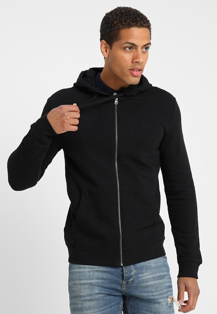Benetton - Sweatjacke - black