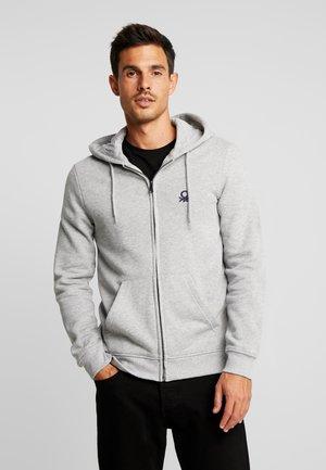 veste en sweat zippée - melange grey