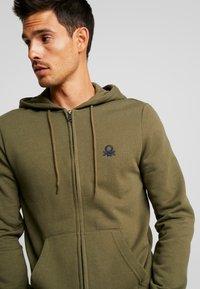 Benetton - Zip-up hoodie - olive - 4