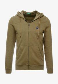 Benetton - Zip-up hoodie - olive - 3