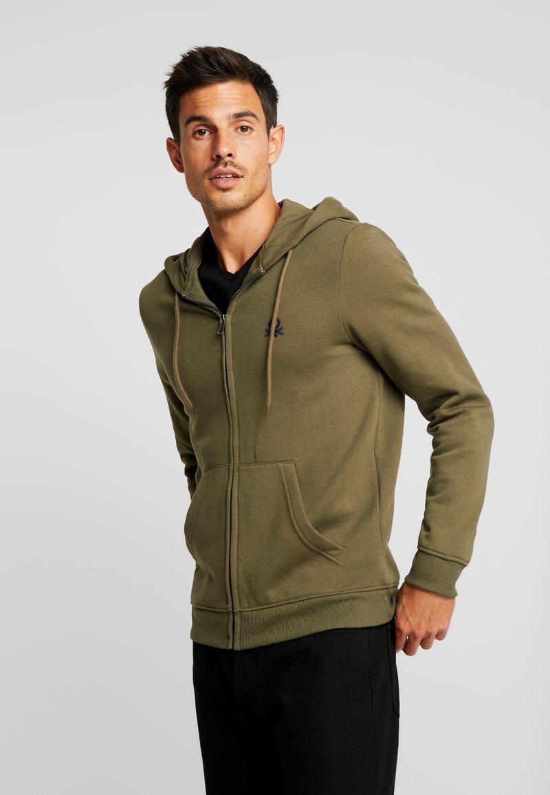 Benetton - Zip-up hoodie - olive