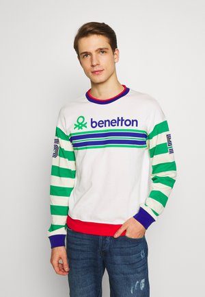 Sweatshirt - white/green