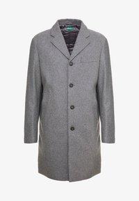 Benetton - Short coat - melange dark grey - 4