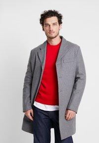 Benetton - Short coat - melange dark grey - 0