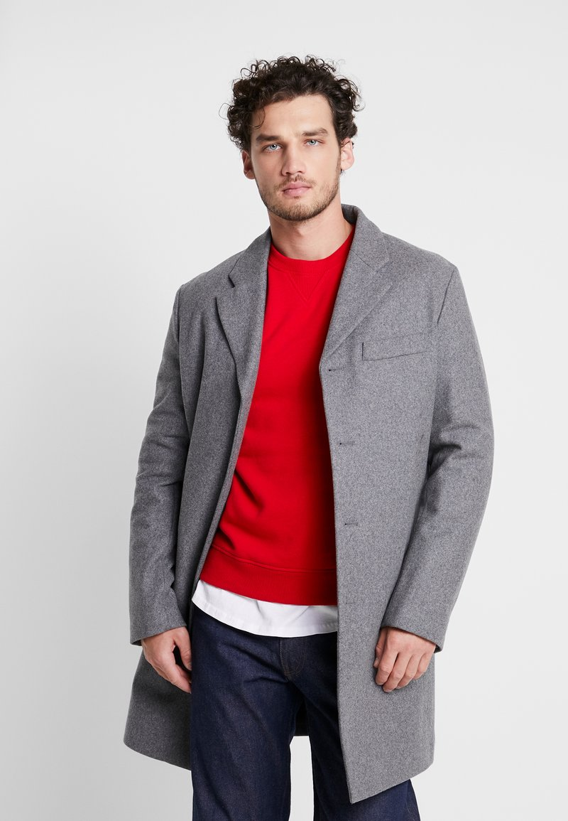 Benetton - Short coat - melange dark grey