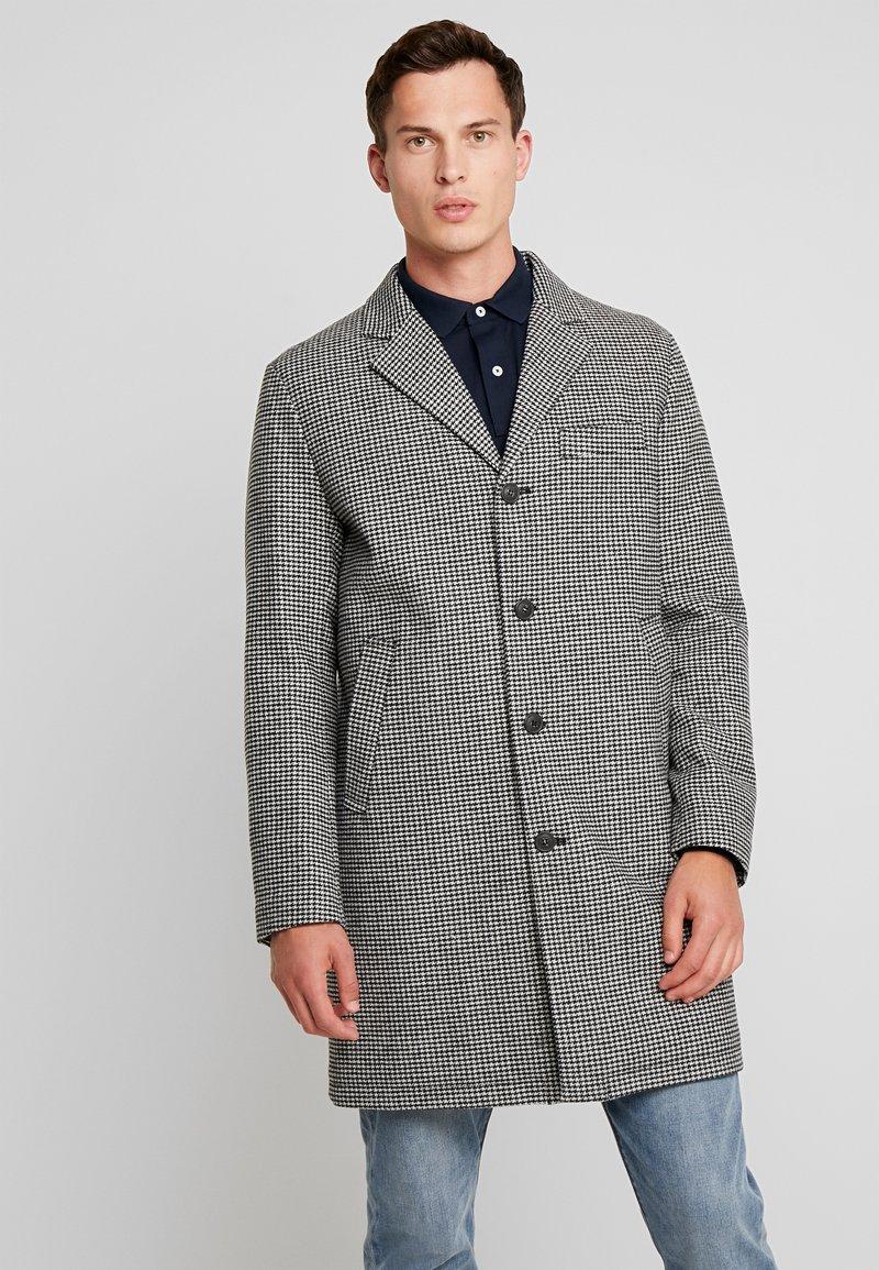 Benetton - Zimní kabát - black/white