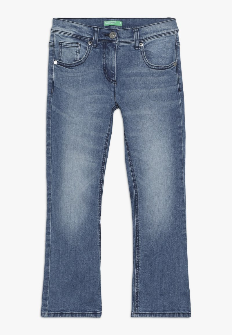 Benetton - TROUSERS - Bootcut jeans - light-blue denim