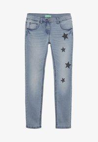Benetton - TROUSERS - Jeans Slim Fit - light blue - 2