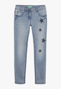 Benetton - TROUSERS - Jeans Slim Fit - light blue - 0