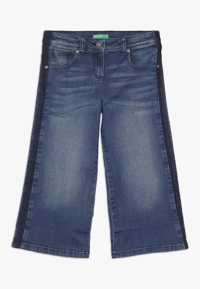Benetton - TROUSERS - Flared jeans - blue