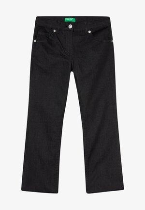 TROUSERS - Jean bootcut - black