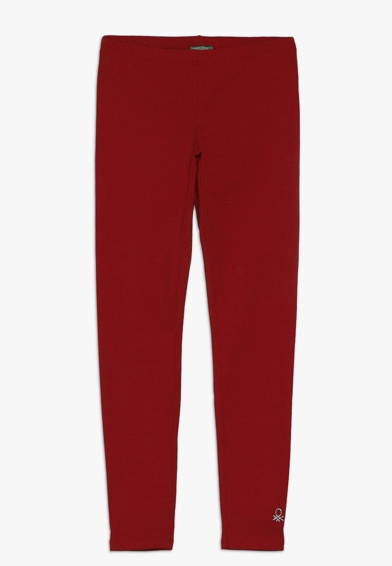 Benetton - Leggings - red
