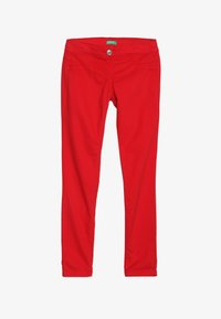 Benetton - TROUSERS - Tygbyxor - red - 2