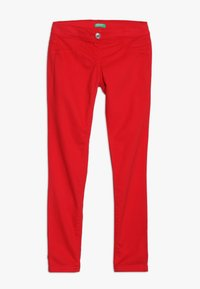 Benetton - TROUSERS - Kangashousut - red - 0