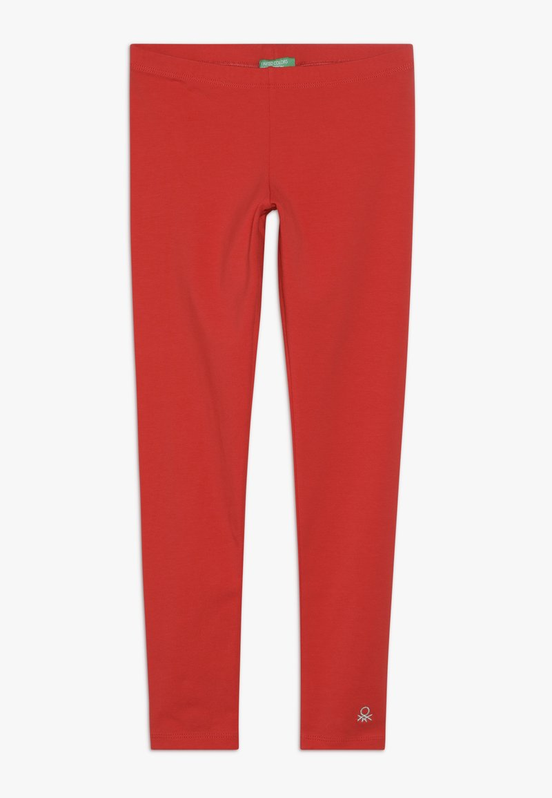 Benetton - BASIC - Leggings - red