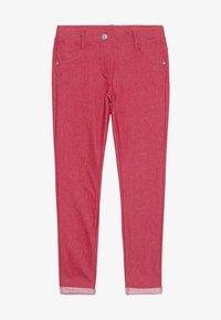 Benetton - TROUSERS - Spodnie materiałowe - red - 2