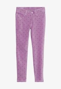 Benetton - TROUSERS - Kangashousut - purple - 2