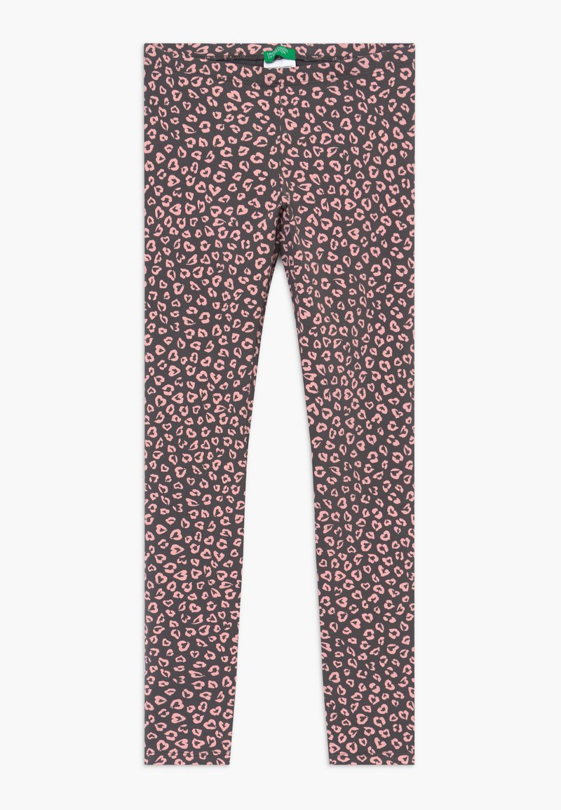 Benetton - Leggings - Trousers - grey/light pink