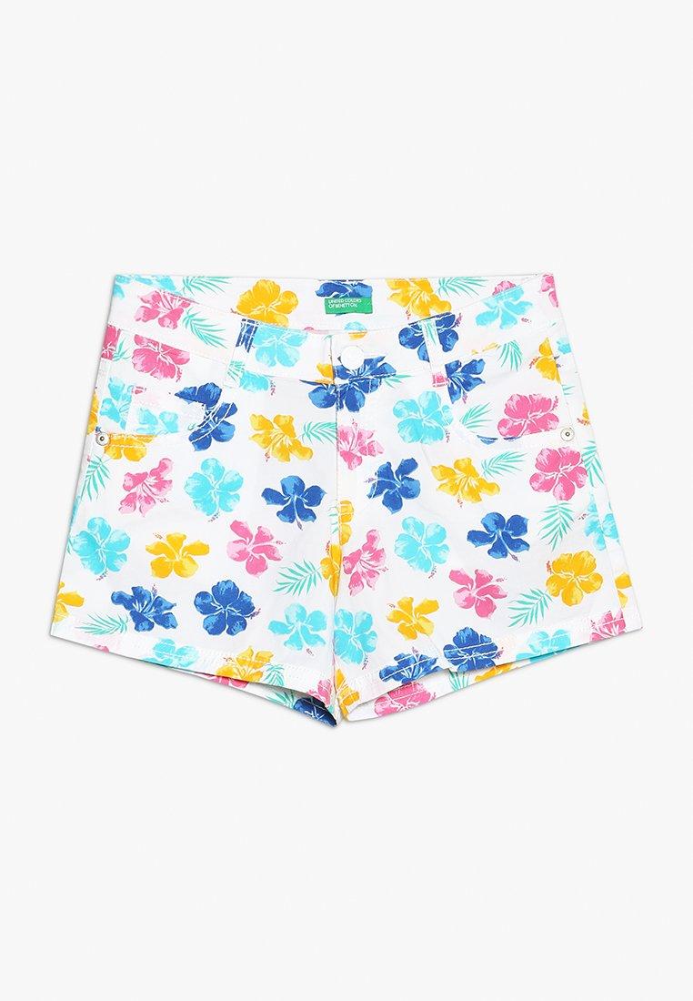 Benetton - Shorts - white/pink