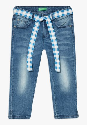 TROUSERS BELT - Shorts vaqueros - blue denim