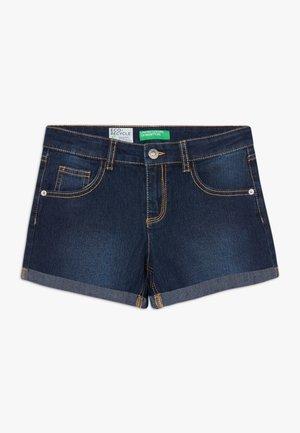 Denim shorts - dark blue denim