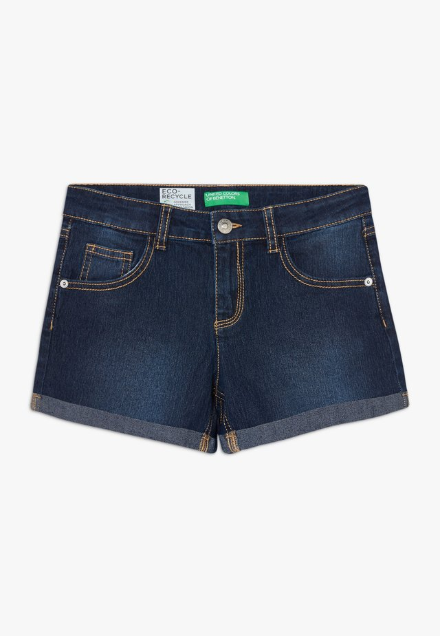 Jeansshort - dark blue denim
