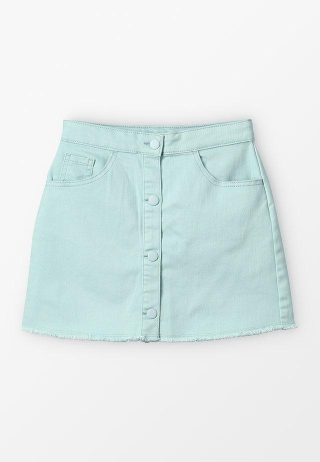 SKIRT - Jeansrok - turquoise