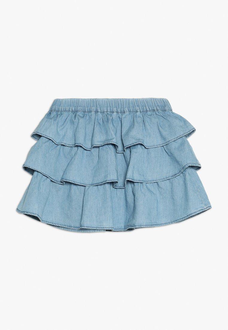 Benetton - SKIRT - A-line skirt - light blue