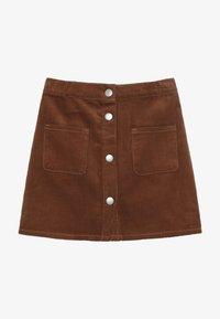 Benetton - SKIRT - Áčková sukně - brown - 2