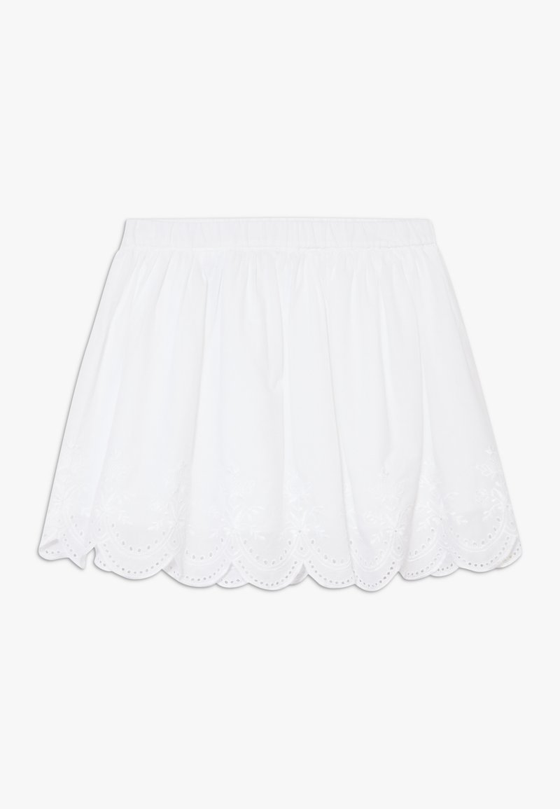 Benetton - SKIRT - Áčková sukně - white