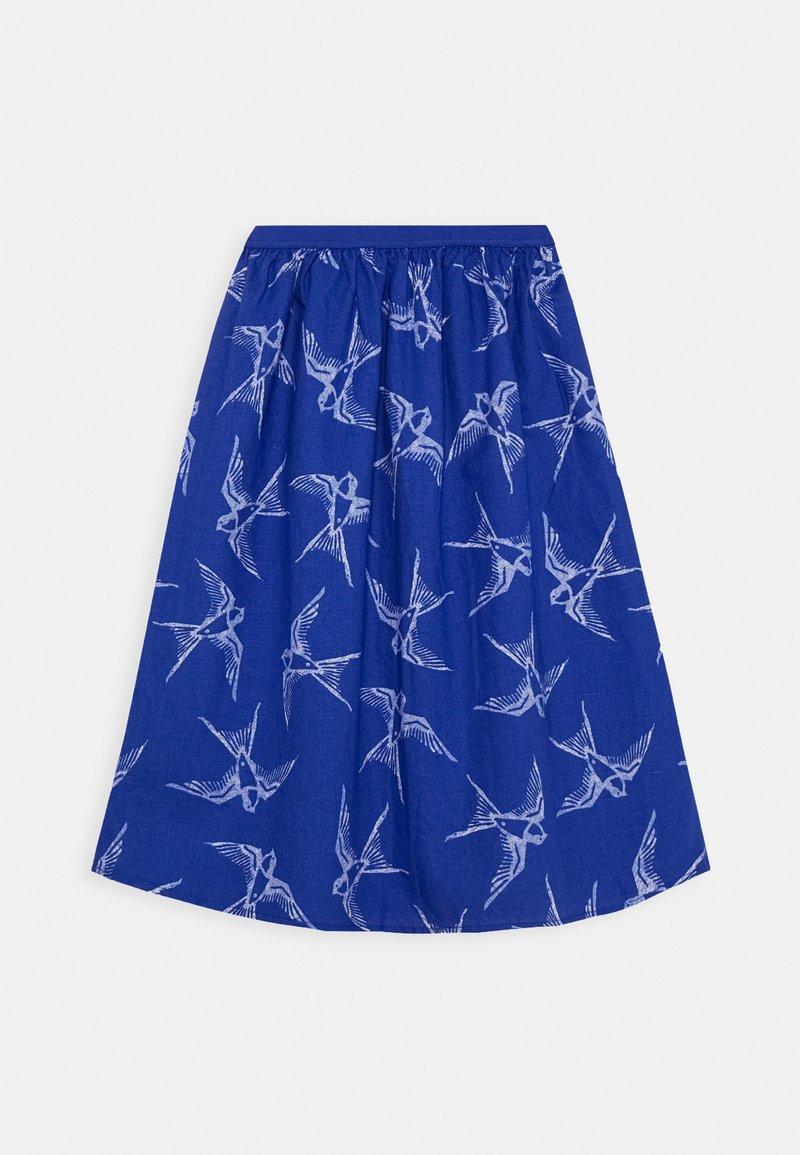Benetton - SKIRT - A-line skirt - blue