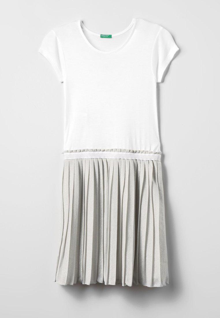 Benetton - DRESS - Vestito di maglina - white