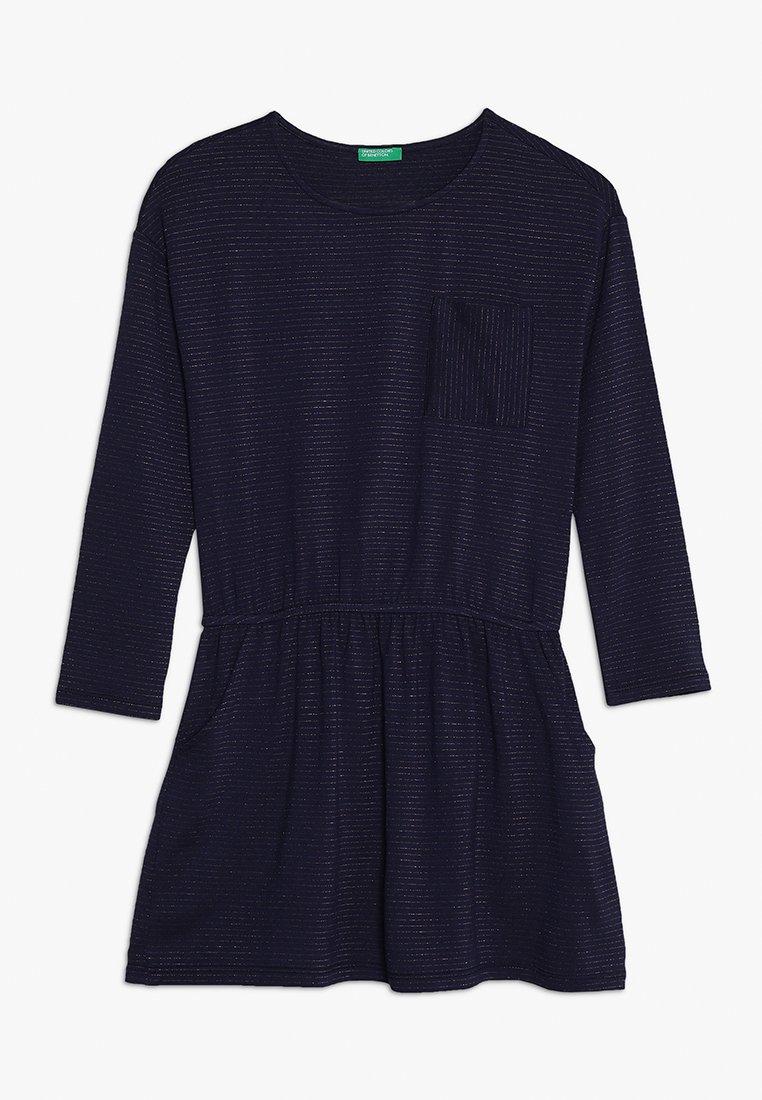 Benetton - DRESS - Žerzejové šaty - dark blue