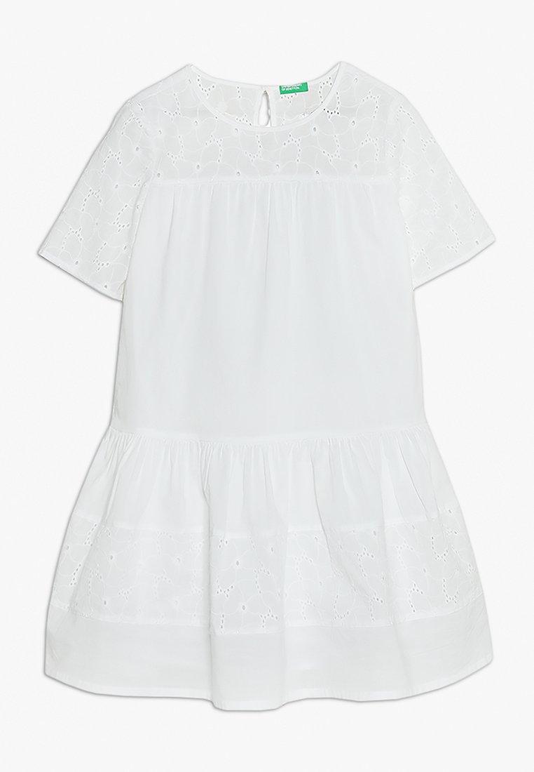 Benetton - DRESS - Cocktailkleid/festliches Kleid - white