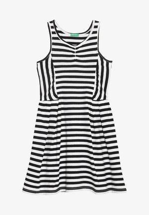 DRESS - Žerzejové šaty - white/black