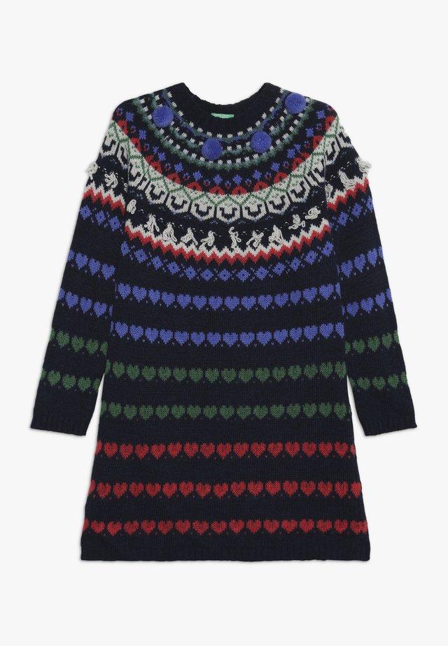 DRESS - Gebreide jurk - multi-coloured