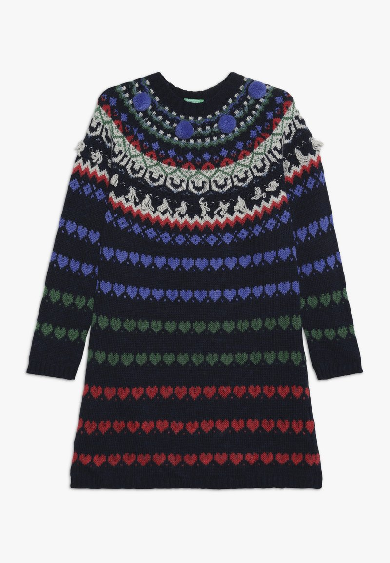 Benetton - DRESS - Jumper dress - multi-coloured