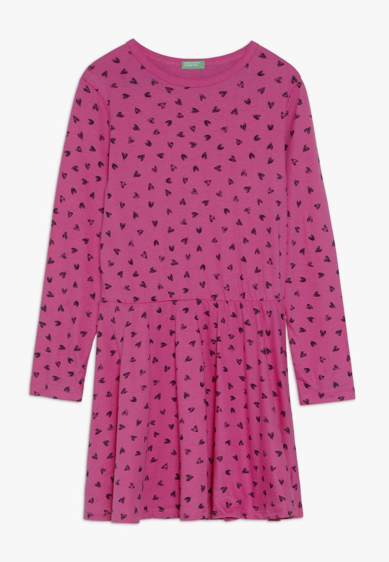 Benetton - DRESS - Jersey dress - pink