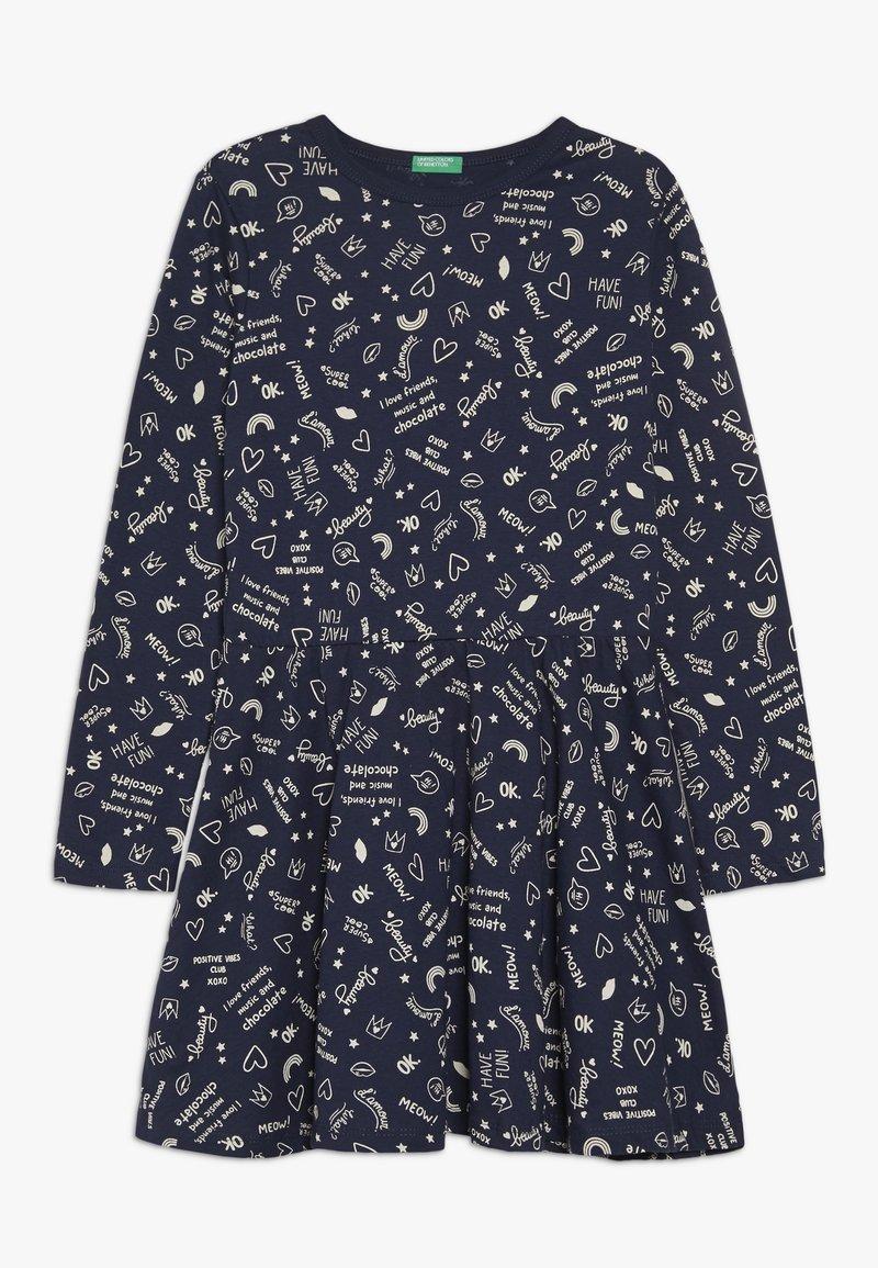 Benetton - DRESS - Jerseyklänning - dark blue