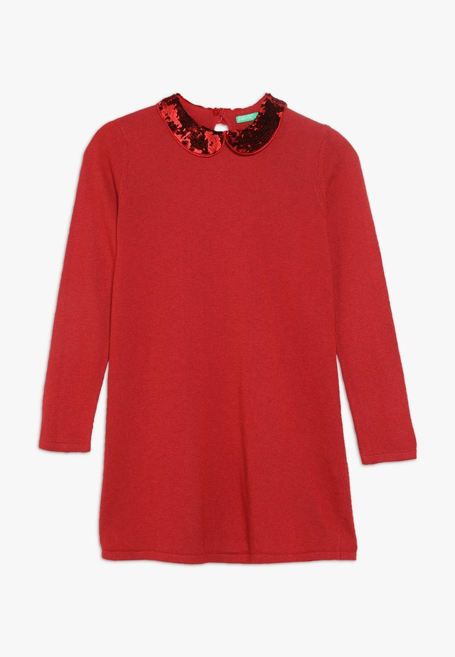 DRESS - Sukienka dzianinowa - red