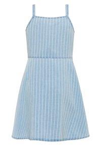 Benetton - DRESS - Denim dress - light-blue denim - 1