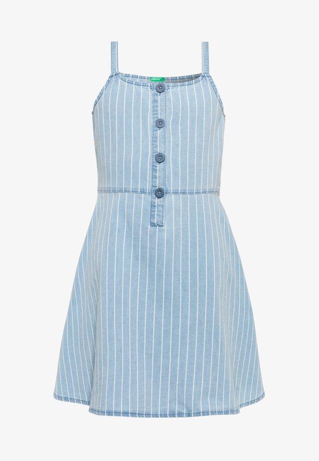 DRESS - Jeansklänning - light-blue denim
