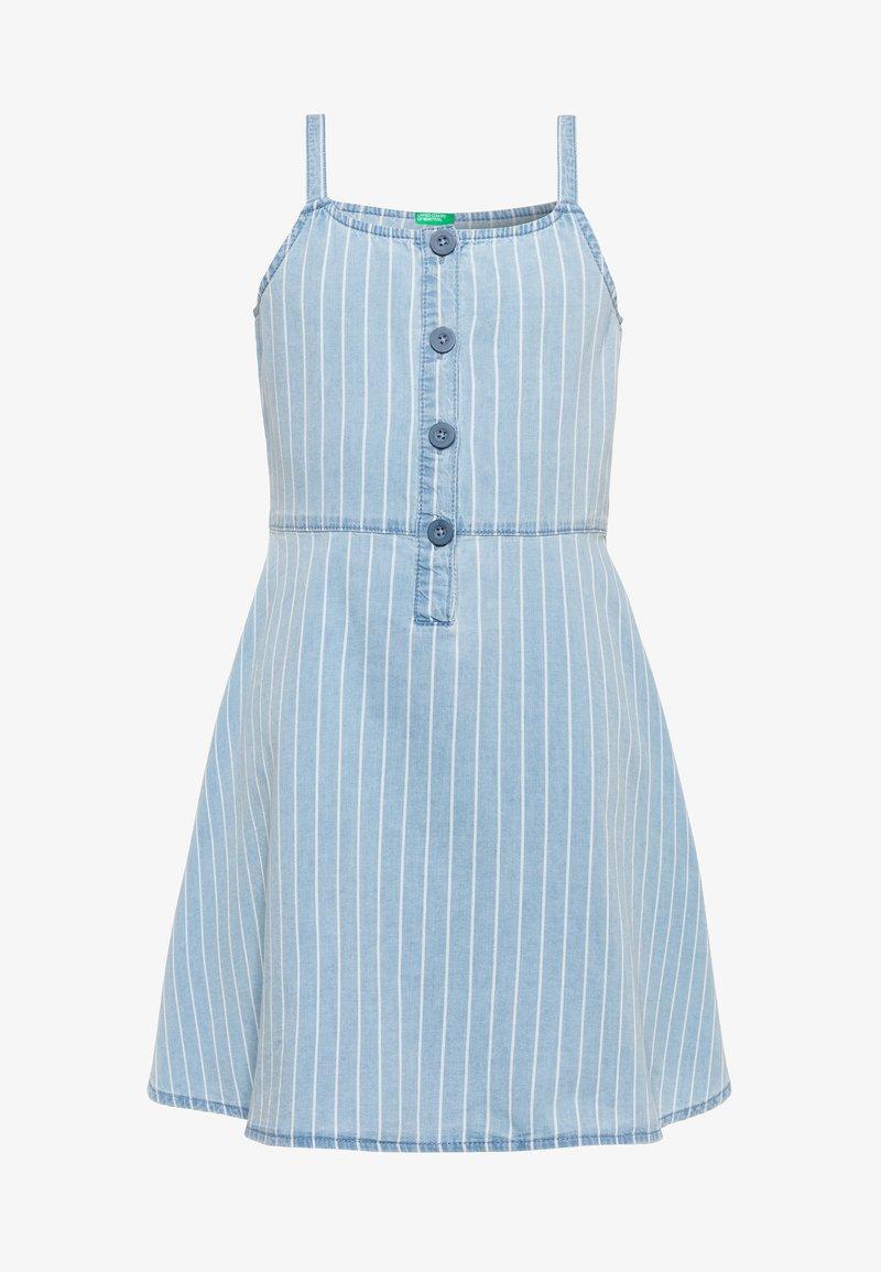 Benetton - DRESS - Denim dress - light-blue denim