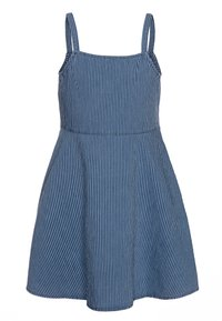 Benetton - DRESS - Spijkerjurk - dark-blue denim