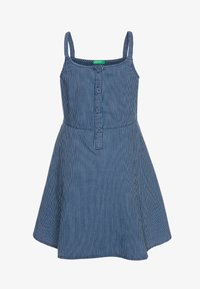 Benetton - DRESS - Spijkerjurk - dark-blue denim - 0
