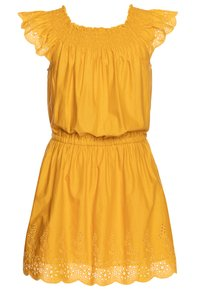 Benetton - DRESS - Korte jurk - mustard yellow - 1