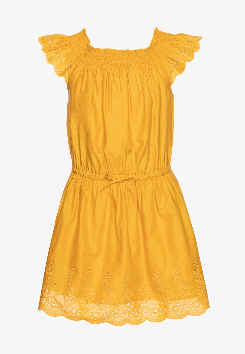 Benetton - DRESS - Korte jurk - mustard yellow