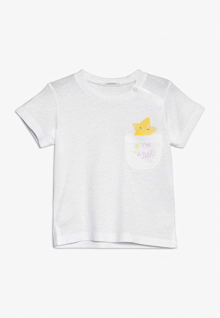 Benetton - Print T-shirt - white