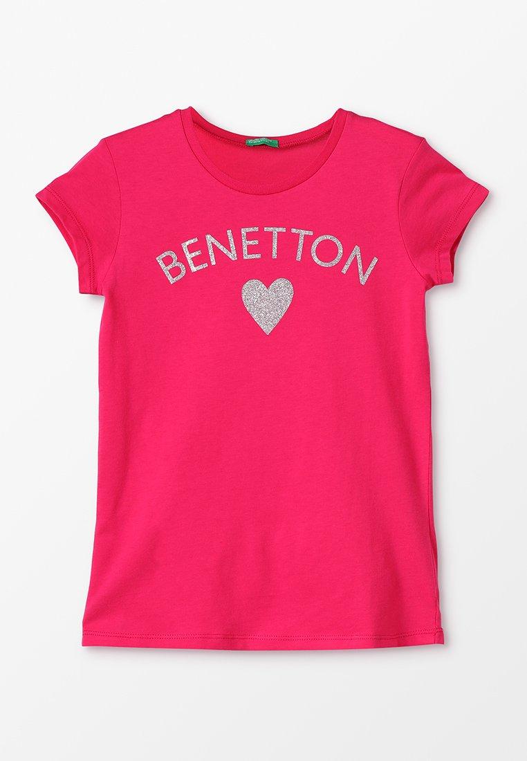 Benetton - BASIC - T-shirt con stampa - pink