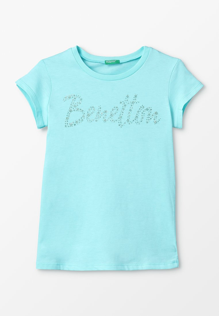 Benetton - BASIC - T-shirt imprimé - light blue